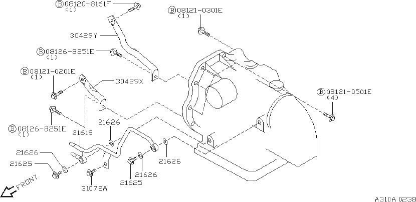 Nissan Sentra Gusset  Transmission  Fitting  Front