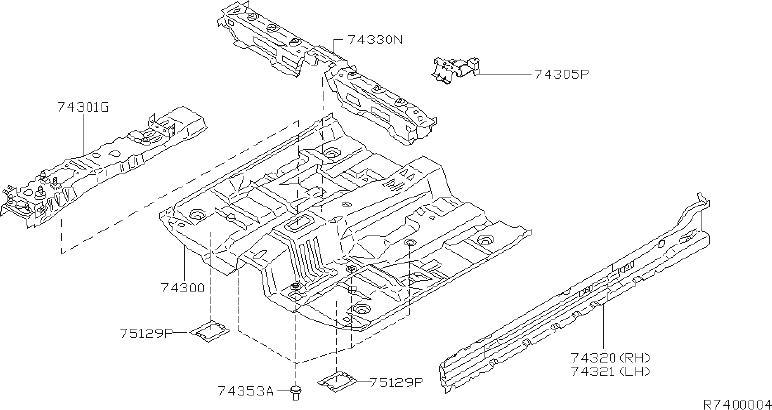 Nissan Sentra Rocker Panel  Left   Floor