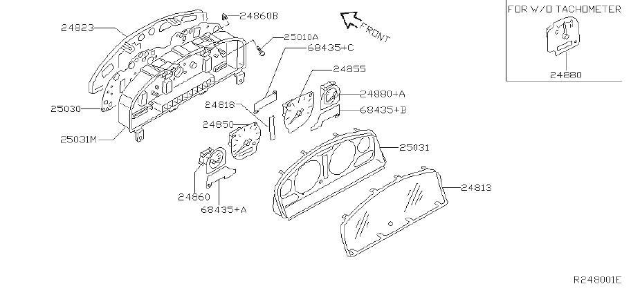 Nissan Frontier Engine Coolant Temperature Gauge - 24835 ...