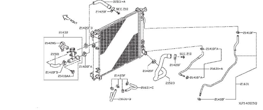 Nissan Versa Note Hose Oil Cooler  Auto Transmission  Fitting  Cvt  Radiator