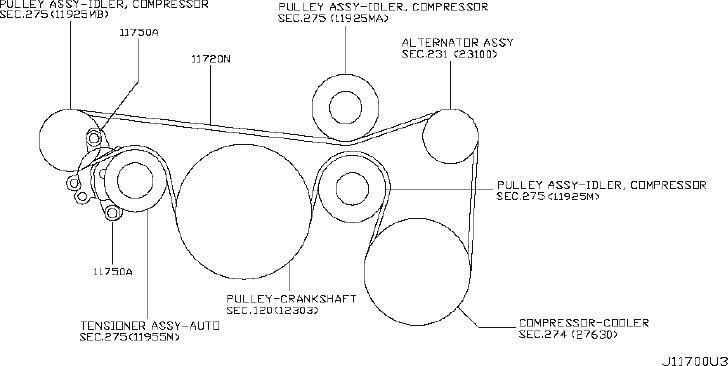 Nissan Quest Serpentine Belt