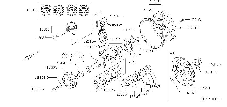 Nissan Axxess Washer Pulley  Crankshaft  Illustration