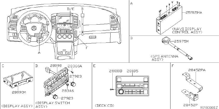 Nissan Altima Deck Cd  Antenna  Cockpit