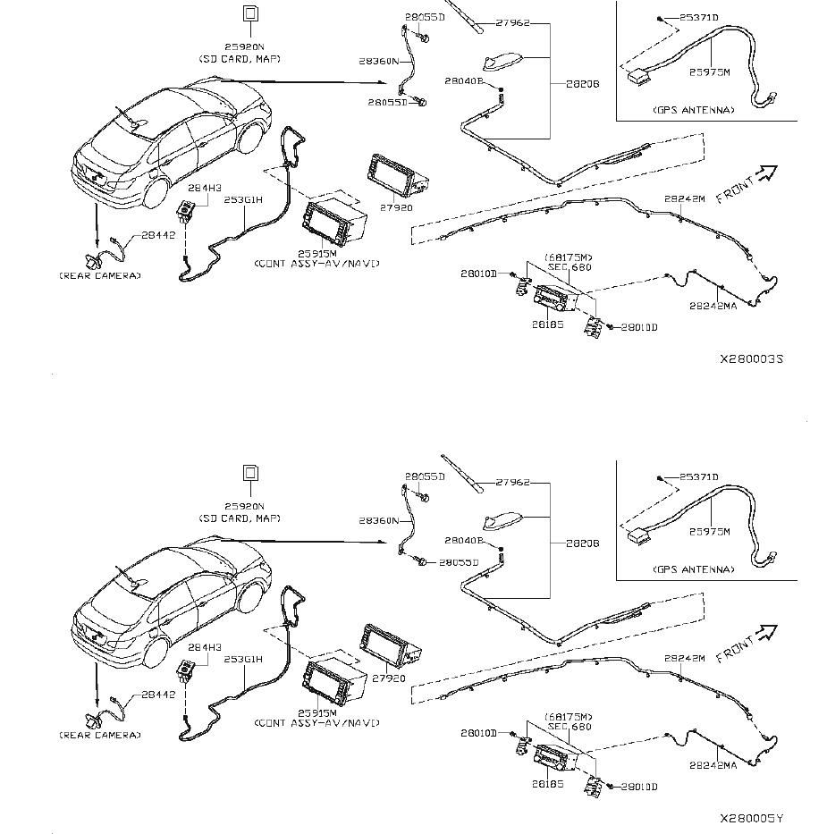 Nissan Versa Console Wiring Harness  Audio  Antenna  Unit