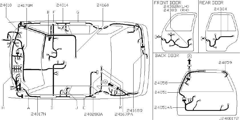 Nissan Pathfinder Harness Body   Left   Engine  Fitting