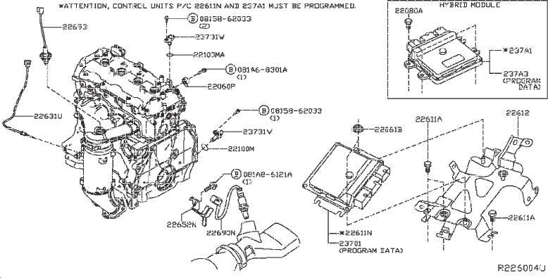 Nissan Pathfinder Engine Camshaft Position Sensor  Module