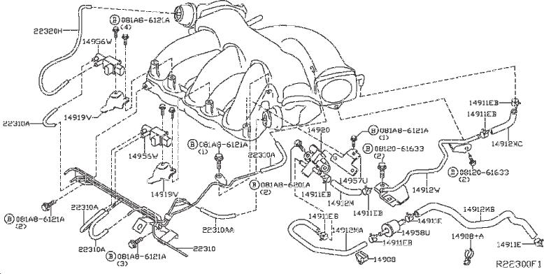 Nissan Pathfinder Emission Check Valve  Piping  Emissions