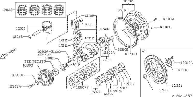 Nissan Axxess Engine Crankshaft Thrust Washer  Grade