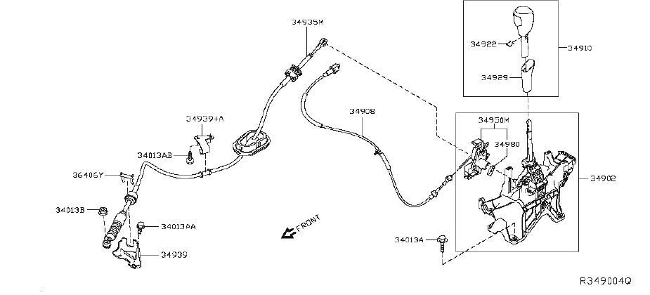 Nissan Rogue Shift Interlock Solenoid  Start  Push  System