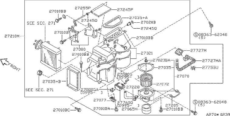 Nissan Quest Hvac Blower Motor Resistor  Heater  Front