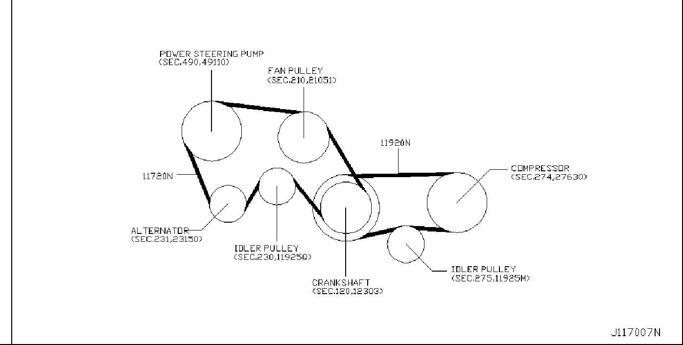 Nissan 350z Serpentine Belt  Compressor  Power  Fan